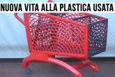 Plastica riciclata: dalle bottiglie usate a un carrello della spesa