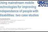 """Utilizzo delle tecnologie """"mobile"""" largamente utilizzate per una maggiore indipendenza delle persone con disabilità"""